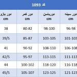 جدول اندازگیری 1093