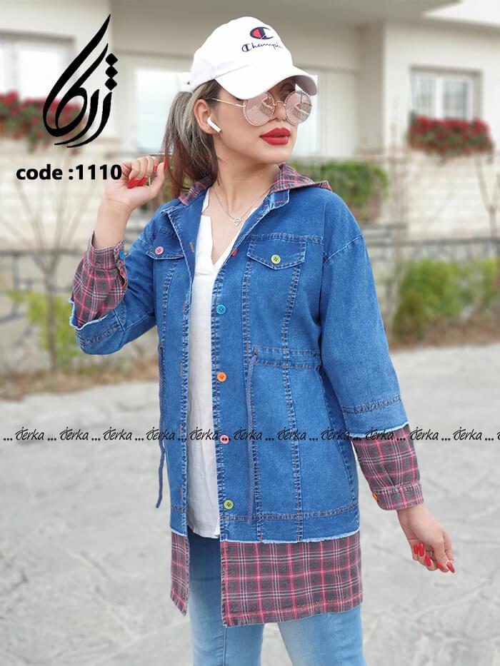 مانتو جین ترکیبی کد 1110