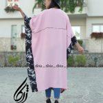 مانتو عبایی فری سایز در رنگ بندی شیک و عیدانه 1400 ژرکا (1)