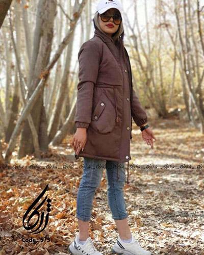 کاپشن دخترانه سویت طرح جیب اشکی 2021