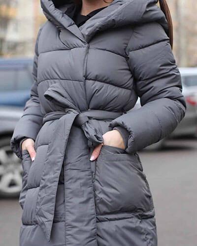 کاپشن دخترانه بلند و پفکی شیک مناسب برای زمستان 2021